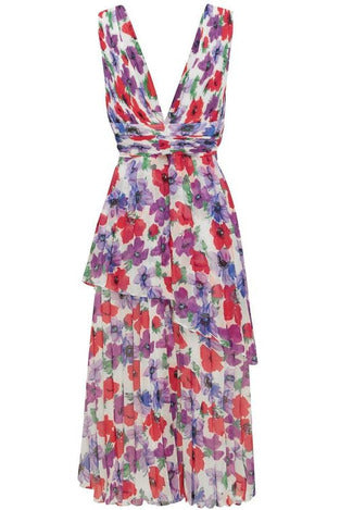 Hire Sugar and Spice Midi Dress Sugar Bloom by La Maison Talulah