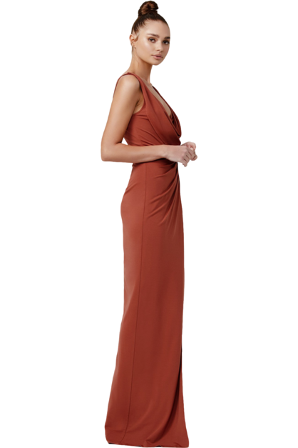 Rent Lexi Naida Dress Terracotta