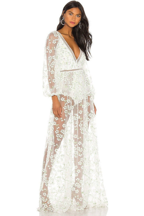 Hire Eclair Maxi Dress by Love & Lemons