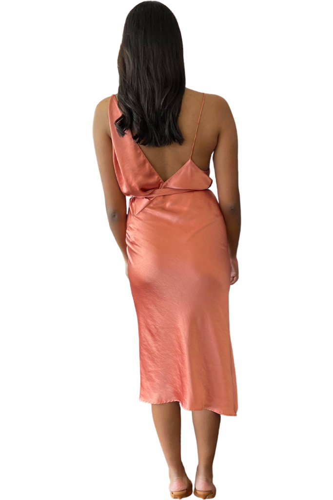Hire Ashton Midi Clay Dress by One Fell Swoop