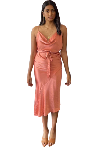 Rent One Fell Swoop Ashton Midi Clay Dress
