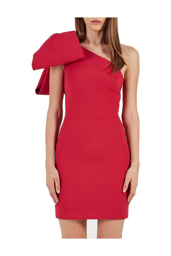 Hire One Shoulder Hamptons Bow Dress by Rebecca Vallance