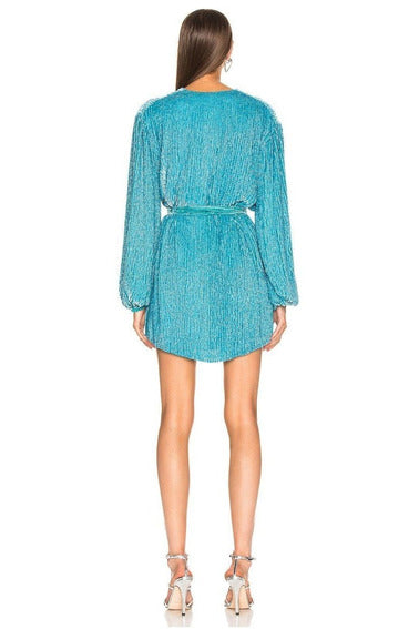 Rent Retrofete Gabrielle Robe Dress Blue