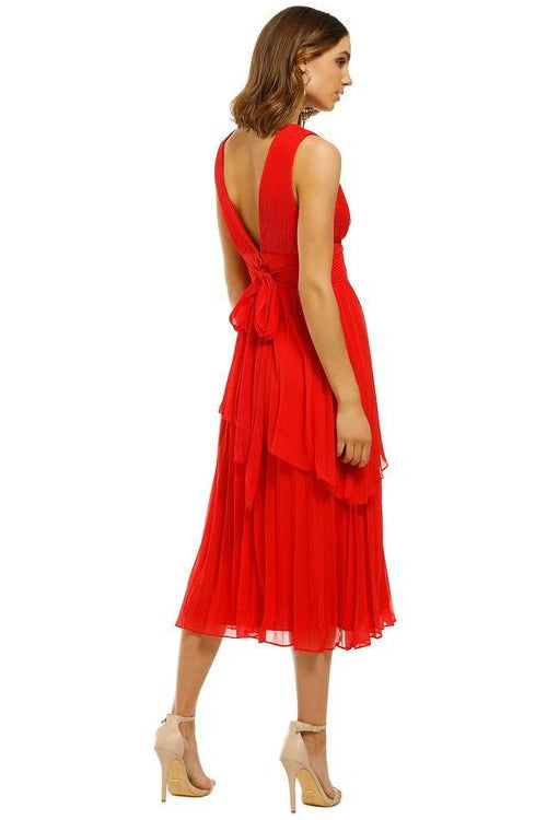 Sugar and Spice Midi Dress Red