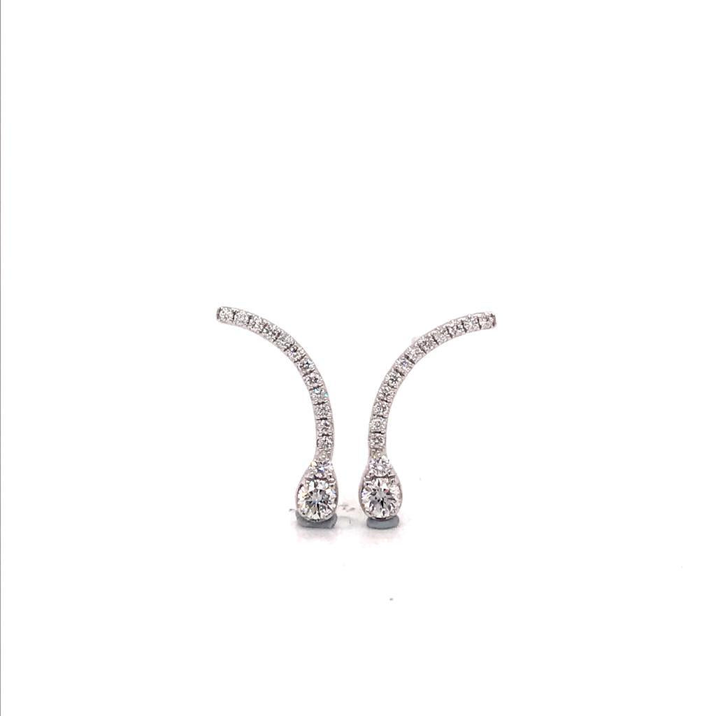 Etoile Diamond Earrings 18k White Gold