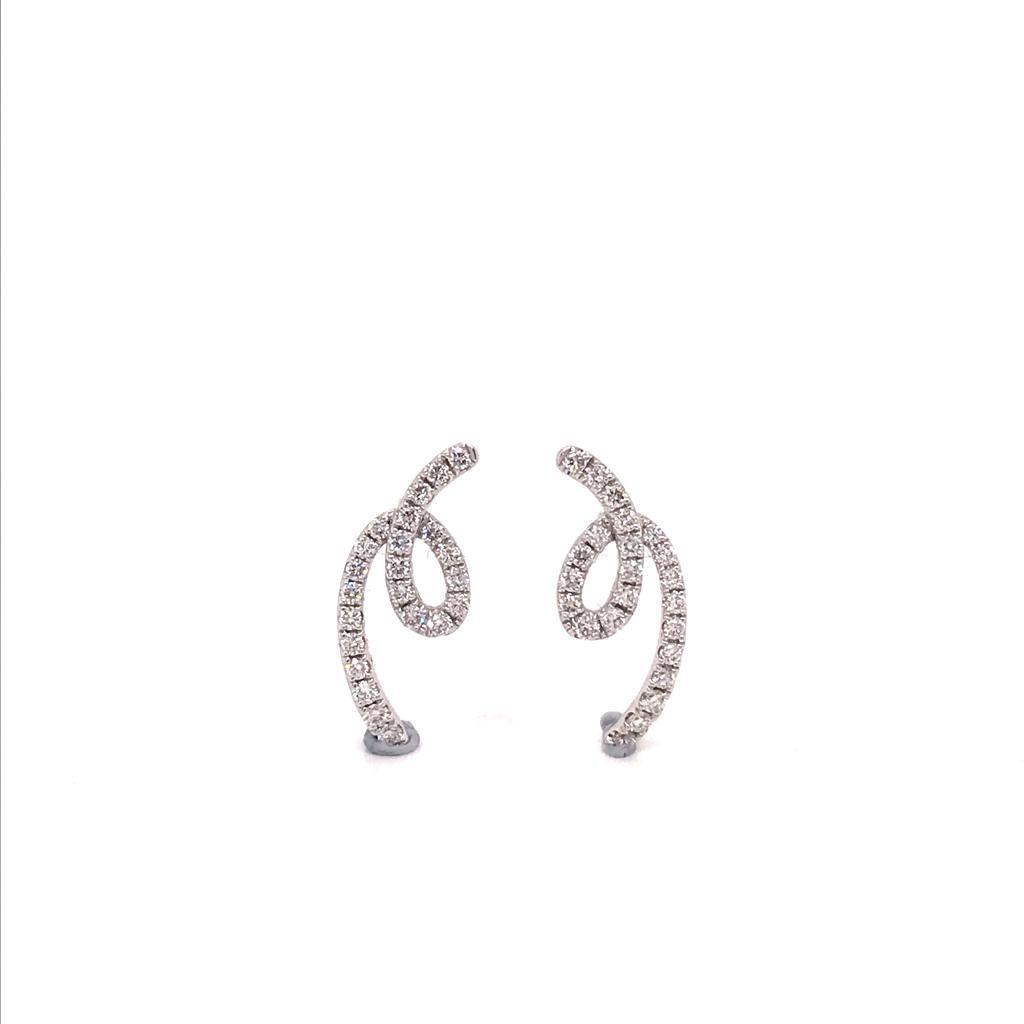 18W EARRINGS S/W DIAMONDS