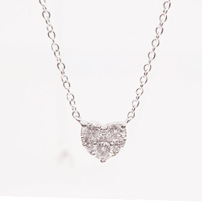 Bloomingdale Heart Diamond Pendant Chain