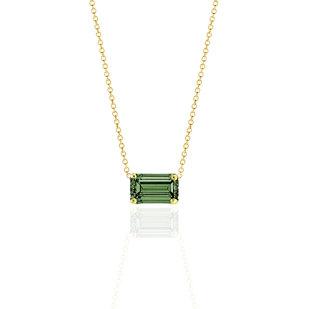 Prism Moss Sapphire Necklace