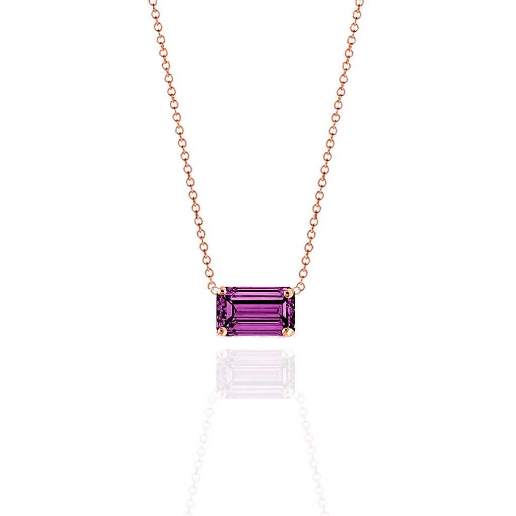 Prism Mulberry Sapphire Necklace