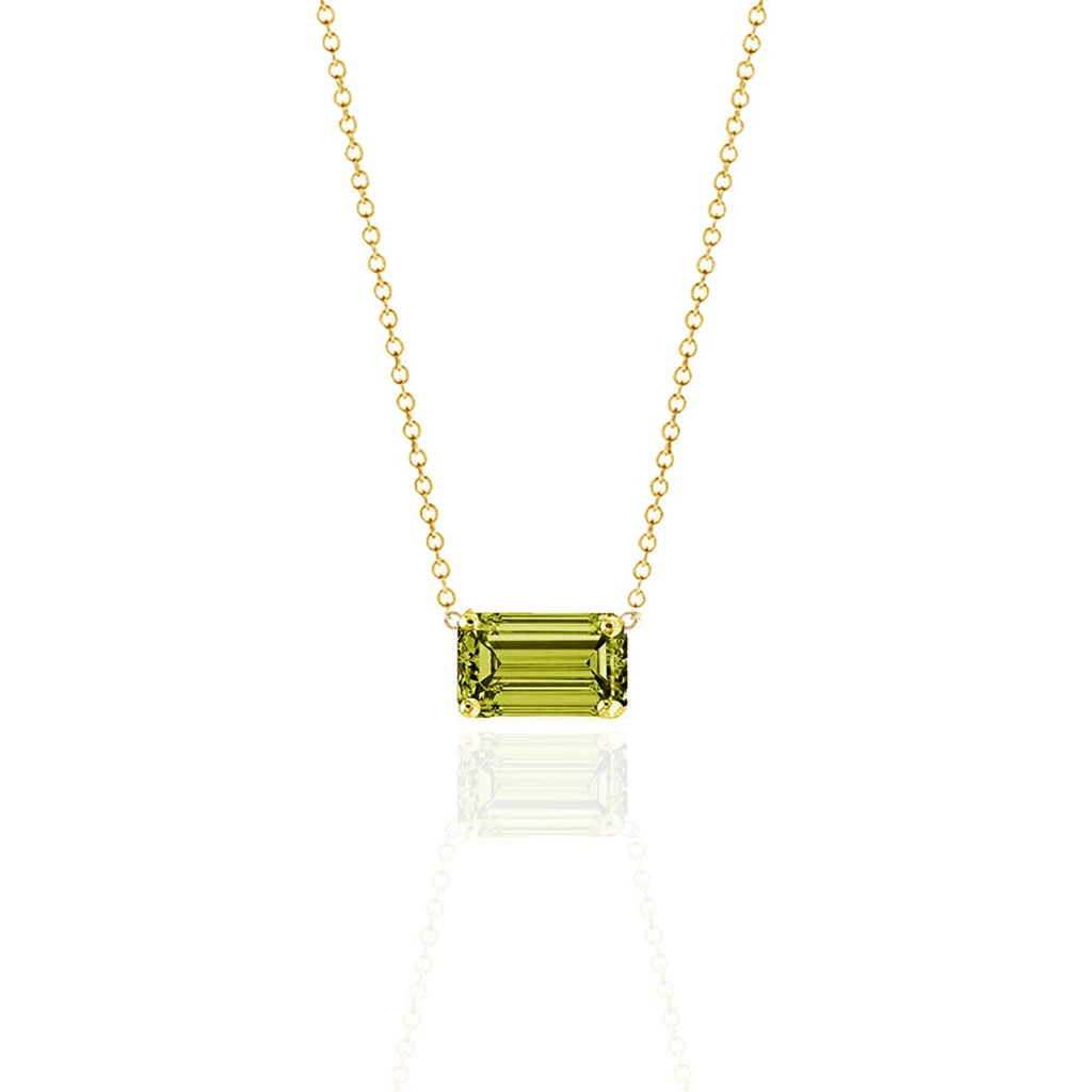 Prism Olive Sapphire Necklace