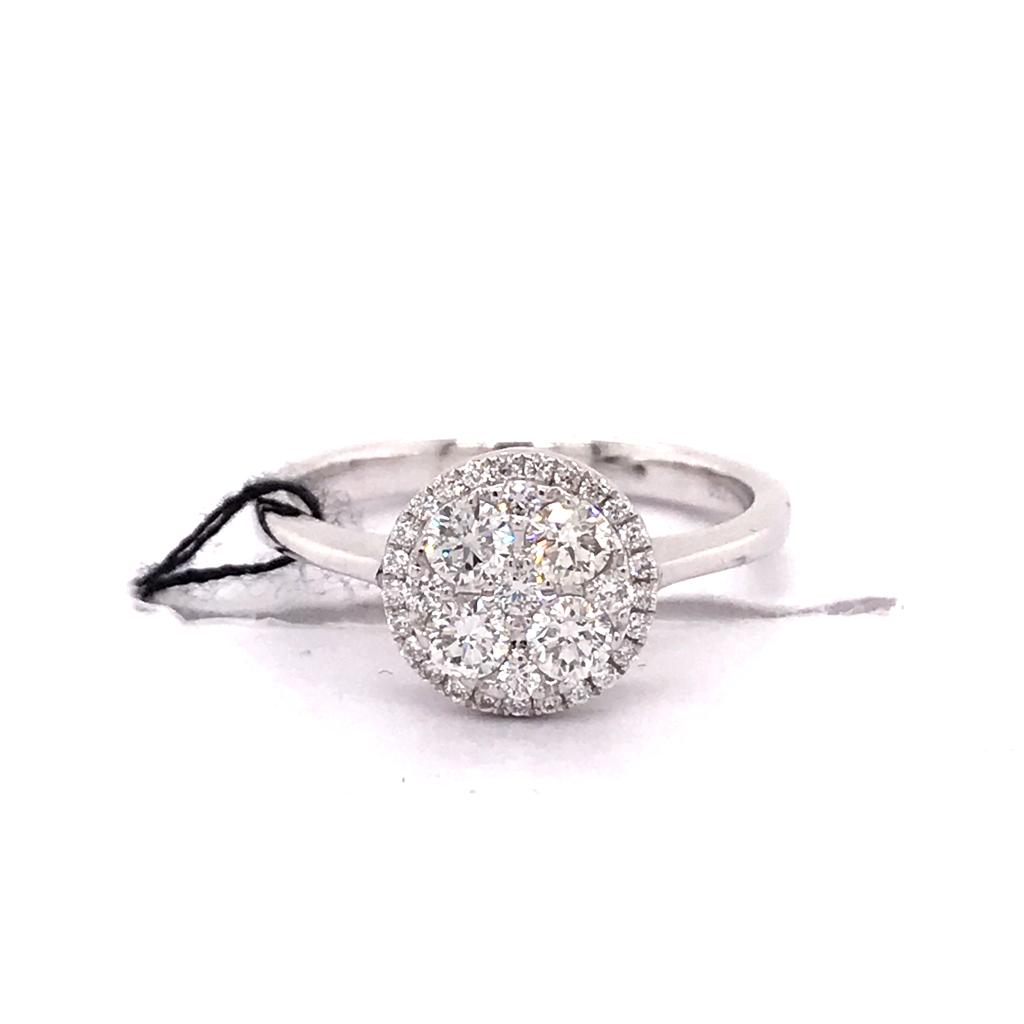 Notte Cluster Diamond Ring 18k White Gold