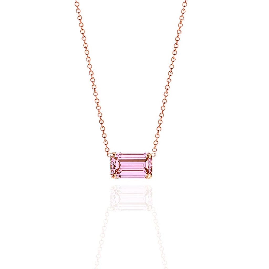 Prism Taffy Pink Sapphire Necklace