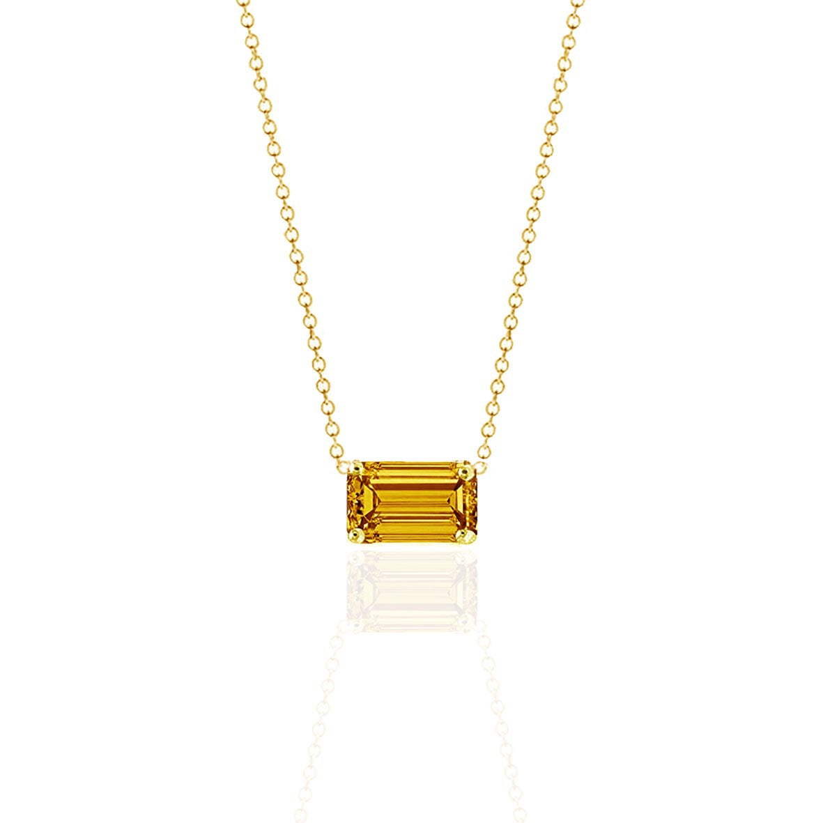 Prism Bumblebee Sapphire Necklace