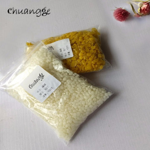 CHUANGGE 100g Pure Natural Beeswax Candles Making Supplies
