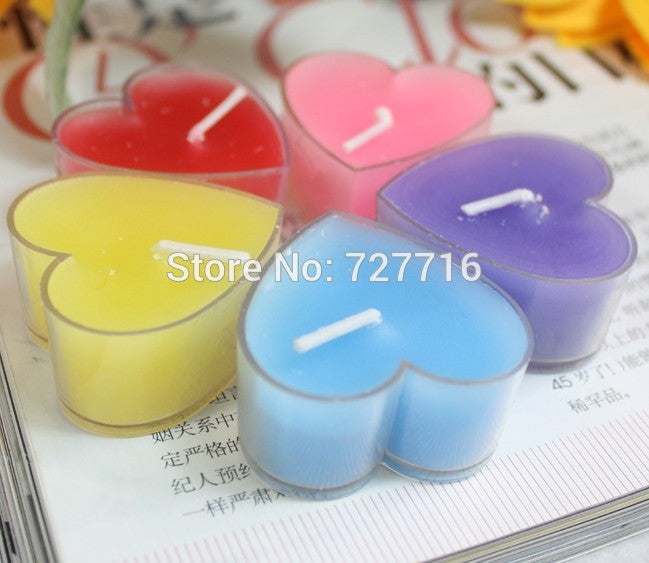Birthday Candles Romance Heart Shaped Candle