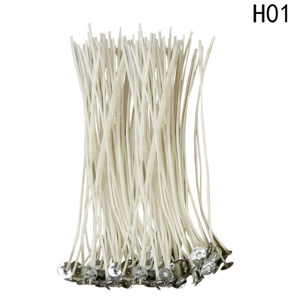 100PCS/Pack 10cm or 15cm or 20cm DIY Candle Wick Core Pre Waxed