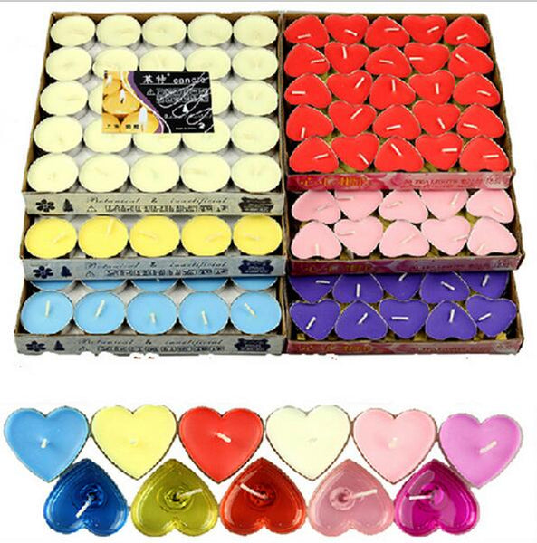 50pcs Romantic Smokeless Candles