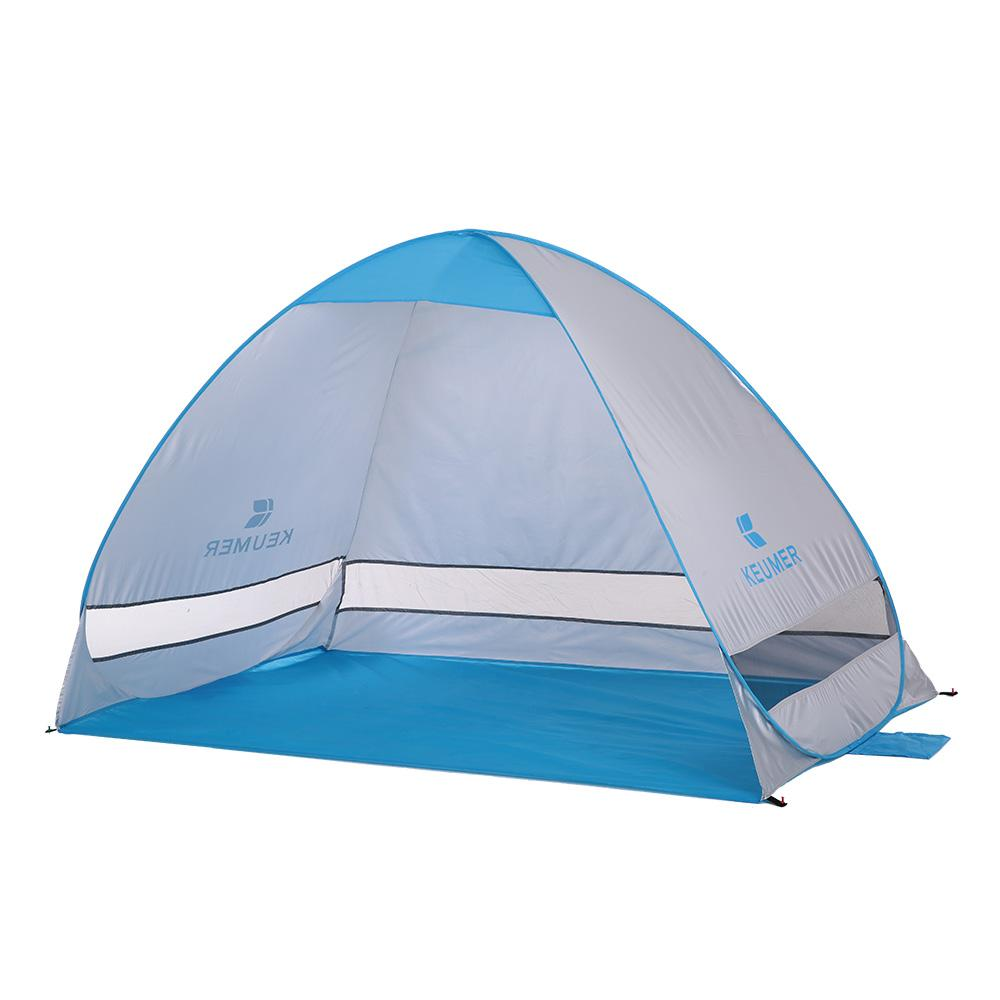 KEUMER Automatic Beach Tent 2 Persons Camping UV Protection Shelter Outdoor Instant Pop-up Summer  200*120*130cm