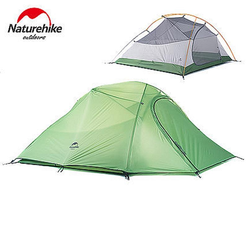 Naturehike Camping Tent 3 Person Plaid Fabric Ultralight Double Layers Aluminum Rod Tent 4 Season Tourist Rainproof UV40+