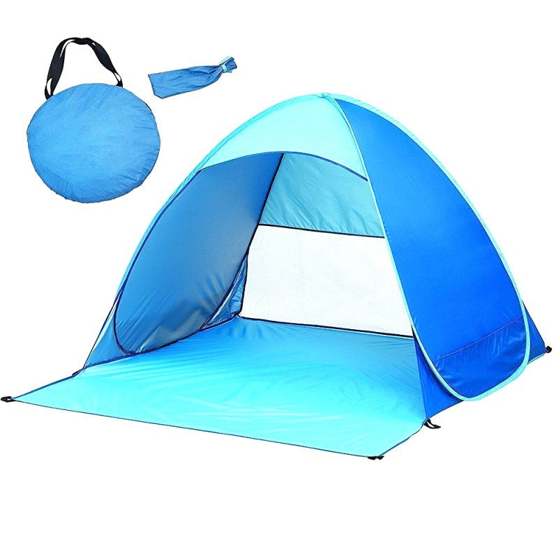 Outdoor Beach Anti-UV Fully Sun Shade Tent Ultralight Folding Tent Pop Up Automatic Open Tent Family Tourist Fish Camping