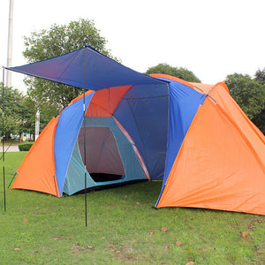 5-8 Person Cabin Tent 2 Rooms Family Tents Camping Hiking Outdoor Sleeping Tent
