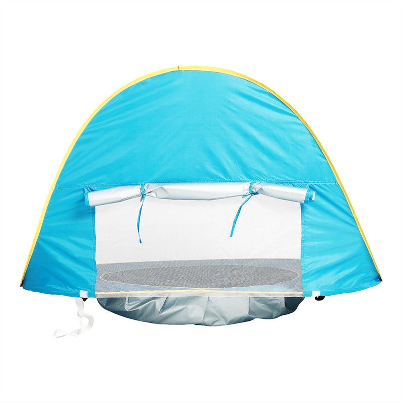 Baby UV Protection Beach Tent Pool Sun Shelter Indoor and Outdoor Play House Tent Dollhouse Tents Toys (Blue)