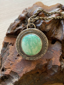 Australian variscite medallion necklace