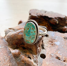 Hubei turquoise stamped band ring