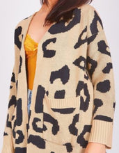 Load image into Gallery viewer, Longline Animal Print Cardigan