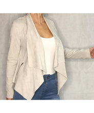 Load image into Gallery viewer, Waterfall Faux Suede Jacket