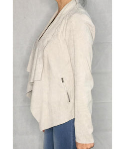 Waterfall Faux Suede Jacket