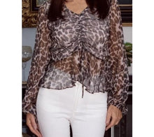 Load image into Gallery viewer, Animal Print Blouse
