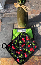 Load image into Gallery viewer, Cherries & Neon - (1) Potholder