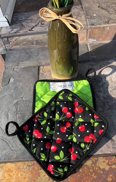 Cherries & Neon - (1) Potholder