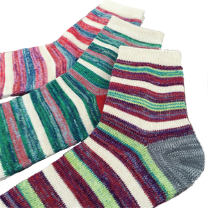 Warm Colour Stripe Socks (3 Pack)