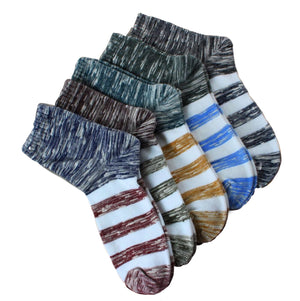 White Stripe Socks (5 PACK)