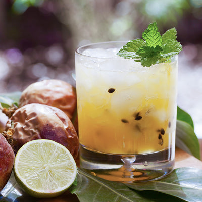 Allspice Ginger Lime & Passionfruit Mocktail