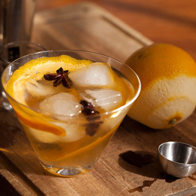 Cinnamon-Orange-Star Anise Cocktail