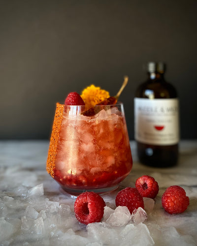 Spicy Raspberry Smash with Kombucha