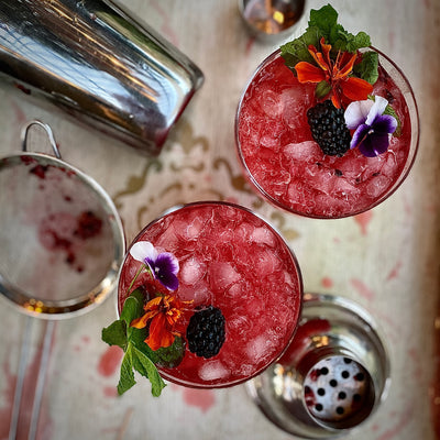 Bramble with Hibiscus-Mint-Lemon