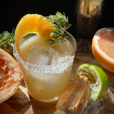 Salty Dog with Rosemary-Grapefruit