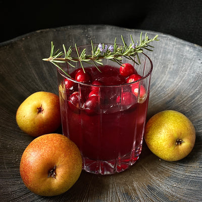 Rosemary-Grapefruit, Seedlip Spice and Cranberry N/A cocktail