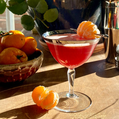 Tangerine & Cranberry Mocktail with Seedlip