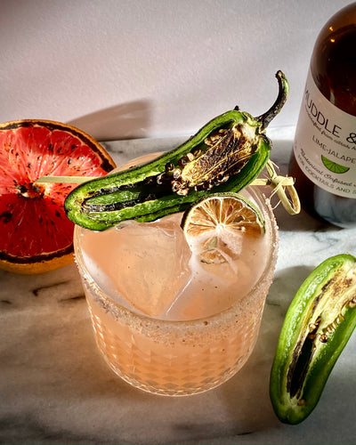 Charred Grapefruit Non Alcoholic Margarita with Seedlip