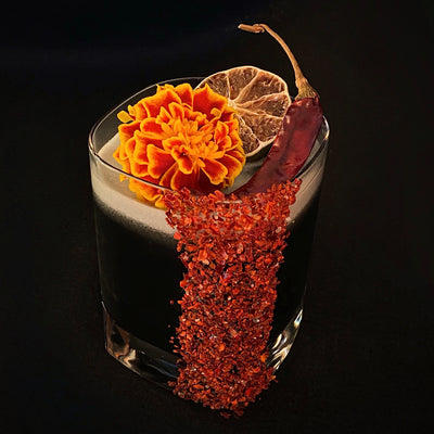 Black&Spicy Margarita (Pineapple and Tamarind-Lime-Chile de Arbol)