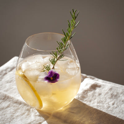 White Wine Spritzer with Rosemary-Grapefruit
