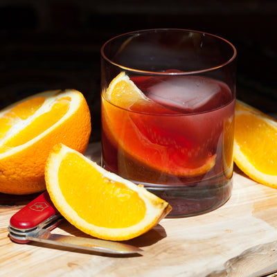 Hibiscus-Clove-Orange Old Fashioned
