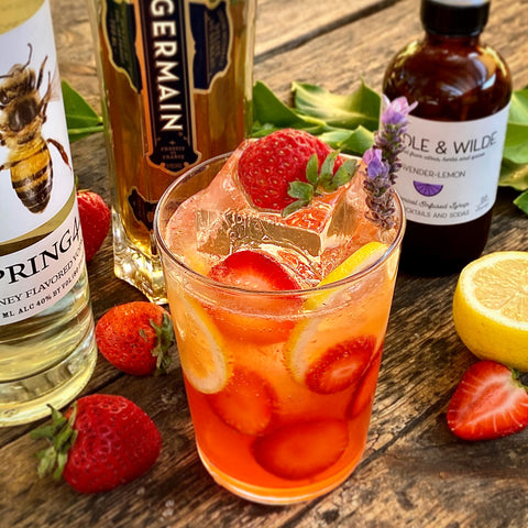 Lavender-Strawberry & St.Germain Cocktail