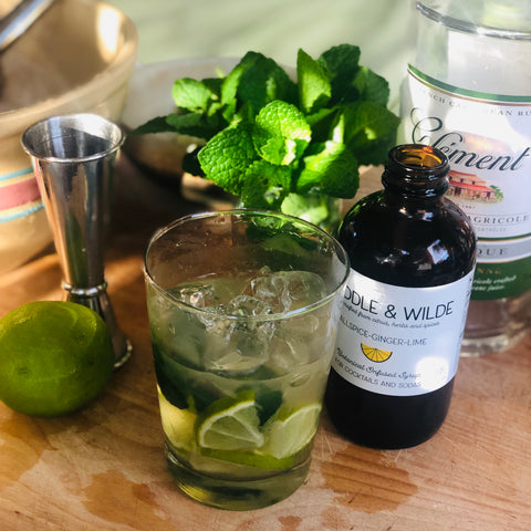Moira's Mojito with Allspice-Ginger-Lime