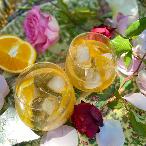 Lemon-Rose and Lillet Spritz